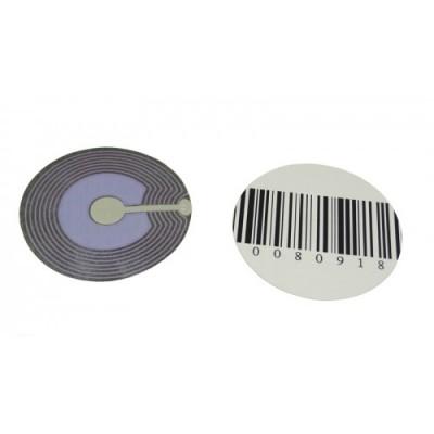 Деактивируемые радиочастотные противокражные антикражные этикетки круглые, 40 мм, черная, 1000 шт