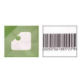 Деактивируемые радиочастотные противокражные антикражные этикетки (8,2 МГц, размеры 40х40 мм, белая) для замороженных продуктов