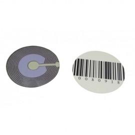 Деактивируемые радиочастотные противокражные антикражные этикетки (круглые 40 мм, белая)